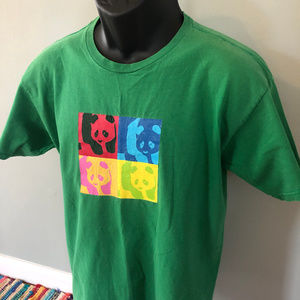 Vintage Shirts - 90s Enjoi Skateboard Tee Shirt Panda Logo Colorful